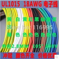 Wholesale meters UL1015 AWG RED electrical wire conductor black awg