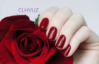 Wholesale CLHVUZ gelish nail polish manicure soak off uv led gel long lasting nail lacquer ml varnish nail salon DIY set red