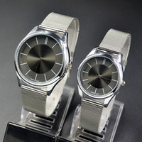 Cheap Fashion C. Brand women men Unisex silver Steel Metal Band quartz .K. wrist watch C01