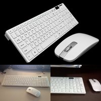 Wholesale High Quality White G Optical Wireless Keyboard Mouse USB Receiver Kit w Cover For PC