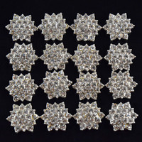 Wholesale Flat Back Crystal Rhinestone Button For Hair Flower Wedding Invitation Rhinestone Applique Accessories