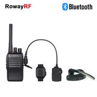 Wholesale Walkie Talkie Bluetooth Headset For Kenwood PTT Speaker Microphone For Motorola Earpiece PC Two Way Radio Bluetooth Earpiece