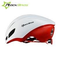 Wholesale RockBros Road Bike Jet propelled Tail Ultralight Integrally molded Helmet Women Men Cycling Ridig Bicycle EPS Breathable Helmets