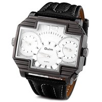 Metal For Samsung For Christmas Wholesale Brand New Oulm 3296 Men's Three Movements Japan Movement Quartz Analog Wrist Watch Relojes Hombre 2016 Man Watches
