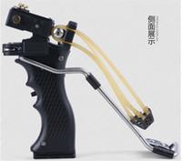 band sling - freeshiping New style hunting slingshot ABS caza estilingue Handle Hunting slingshot With rubber band sling shot Plastic slingshot