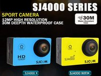 Wholesale SJ4000 Series SJ4000 SJ4000 WIFI SJ4000 Plus K HD Video Resolution Action Camera Waterproof Camera P Sport DV