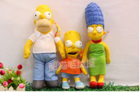 bart plush - Cartoon toys plush dolls The Simpsons Bart Simpson Homer J Simpson Marge Simpson birthday gift