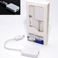 Wholesale MHL Smart HDTV Adapter Mini Micro USB to HDMI Cables for Samsung Galaxy S3 S4 Note I9500 I9300