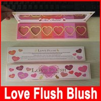 Wholesale 2016 New Makeup Face Love Flush Blush Wardrobe Heart Shaped Palette Colors Lasting hour Blush Factory Price