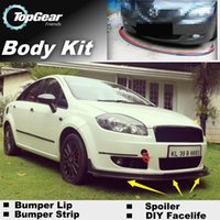 Wholesale Bumper Lips For Fiat Linea Front Skirt Deflector Spoiler For Car Tuning The Stig Recommend Body Kit Strip