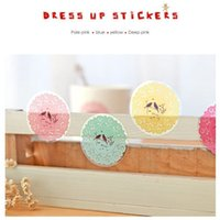 Wholesale Korea style Transparent lace Dress Up Stickers PVC color Diy gift decoration Fancy FreeShipping