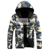 active camouflage military - Men Camouflage Down Coat Fashion Cotton Padded Jacket Casual Hooded Parka Mens Winter Down Sweatshirts Outerwear Military Outdoor Coat