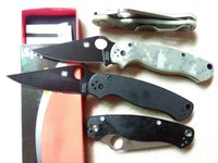 Wholesale Spyderco C81GPCMO2 Paramilitary Knife Spyderco C81 knife S30V G handle Top quality lowest prices Real photo