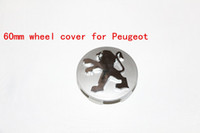 Wholesale New mm Peugeot Wheel Hub Center Cap Wheel Cover Badge Emblem car styling