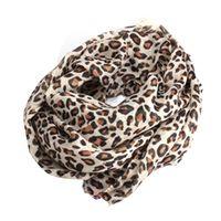 Femmes Lady Elegant Noble Classical Style Leopard Print Combinaisons de coton Warm Scarf Shawl Wrap