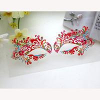 beijing opera masks - Sexy lace face mask Beijing opera photography sticker eyelashes