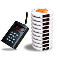 Wholesale QUICKBELL wireless coaster paging queuing system queue management number waiting system coaster pager transmitter receiver