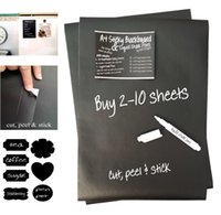Wholesale A4 Adhesive Chalkboard Blackboard Stickers Sheets White Liquid Chalk Marker Pens