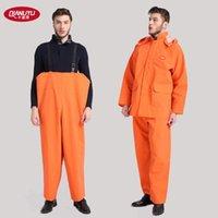 acid rain water - Thousands of rain waterproof raincoat rain pants bib overalls protection suit pants male anti acid water aquaculture
