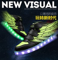 Wholesale children led colors lights shoes usb charge boy and girl fashion kid lights shoes size