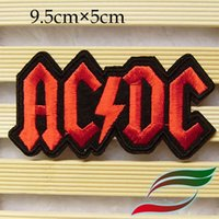 ac dc sticker - AC DC PUNK ROCK HEAVY METAL LOGO MUSIC Badge Patches Iron On sew on patchAppliques sticker Made of Cloth