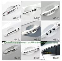 animal door pulls - Car door handles sticker cartoon funny personality reflective stickers blocked scratches pull trolley car decoration supplies stores