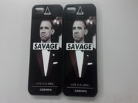 american president obama - Hot sale American President Obama with word quot SAVAGE quot hard back case for iphone s Obama funny expression cover for iphone s