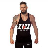 Wholesale ZYZZ Golds Gym Tank Top Mens Bodybuilding Tank Tops Fitness Singlets Clothing Vest GASP Shark Muscle Sleeveless Shirt Gymshark