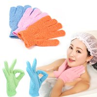 Wholesale Hot New Arrival Moisturizing Spa Bathwater Scrubbing Bath Exfoliating Gloves For showering M01931