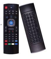 Wholesale X8 hotMini Wireless Keyboard Fly Air Mouse Remote G Sensing Gyroscope Sensors MIC Combo MX3 M For MX3 MXQ M8 M8S M95 S905 STB Android TV BOX