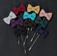 african american fabrics - Size cm Fabric Cute Bowknot Handmade Long Style Brooch Pins Men s Accessories Fashion Jewelry Decorations Pin