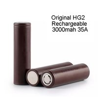 Wholesale 100 Genuine HG2 mAh A V High Power Original Battery Authentic Freeshipping With UPS