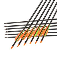 archery arrow parts - Free mm Archery Fiberglass Arrows with Changeable Arrowheads and Plastic Feathers for Hunting Shooting Bows Outdoor Parts