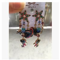 aura club - Europe and the United States big long Saturn Club personality fashion retro aura exaggerated big earrings female Earrings accessories