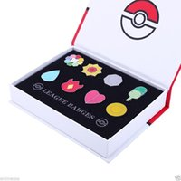 Wholesale Pikachu poke Cartoon Anime All Kanto Gym Badges from Generation Gen New in Box