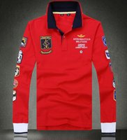 air force polo shirts - 2016 New High quality brand air force one polo shirt aeronautica militare men s long sleeve t shirt long sleeve t shirt men s clothing free