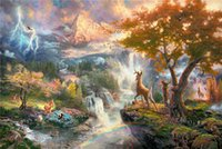 bambi oil - High tech Thomas Kinkade HD Print Oil Painting Art On Canvas bambi first year x36inch Unframed