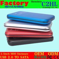 Wholesale 2 External HDD Enclosures SATA Hard Disk Drive Enclosure Case Silver External Storage HDD Enclosures S2505