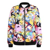 Wholesale NHot style fashion jacket zipper coat Adventure time printing baseball windbreaker jacket qiu dong outfit