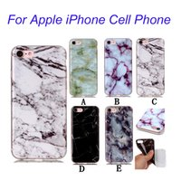 Wholesale For iPhone7 Plus Luxury Ultra thin Marble Design Case Skin Cover IMD Soft Full Protective Case Cover For iPhone s Plus BE0433