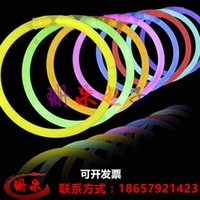 Wholesale Concert noctilucent glo sticks send connector Chemiluminescence bracelet selling rings toys