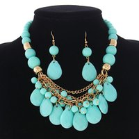 Cheap (4 colors Jewelry ) 2014 CEV high quality color beads necklace colors cheap beaded necklace women costume jewelry