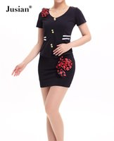 Wholesale Jusian Women s Sexy Costume Dress Exotic Apparel Cosplay Wear Black Blue Rose Color YZM1166