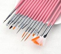 Wholesale 15Pcs Set Nail Art Painting Pen Kit Manicure Brush Line Pen Nail Brush for Nail Art Drawing Dotting Makeup Tool