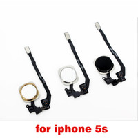 Wholesale For iPhone S Touch ID Sensor Home Button Key Flex Cable Ribbon Repair black white color