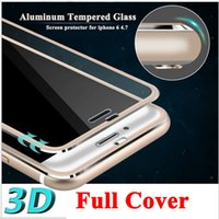Wholesale Clear Front Screen Protector for iPhone plus Tempered Glass Full Cover D Curved Edge Titanium Protective Film Full Coverage
