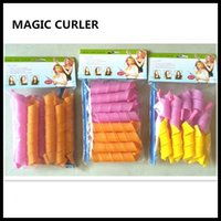 Wholesale 55cm cm cm cm Avaible DIY Magic Hair Curler Roller Magic Circle Hair Styling Rollers Curlers Magic Leverag