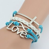 bat bracelet - European and American fashion jewelry hot cross salvation of love bracelet infinity symbol combination bracelet multilayer support mixed bat
