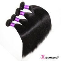 Wholesale 2016 Peruvian Brazilian Hair Straight A Unprocessed Straight Brazilian Virgin Hair Bundles Natural Color Straight Hair Weaves
