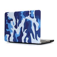 Wholesale Paste Hard Laptop Case For Macbook quot Air quot quot Pro Retina inch Blue Camouflage Color Smooth Surface